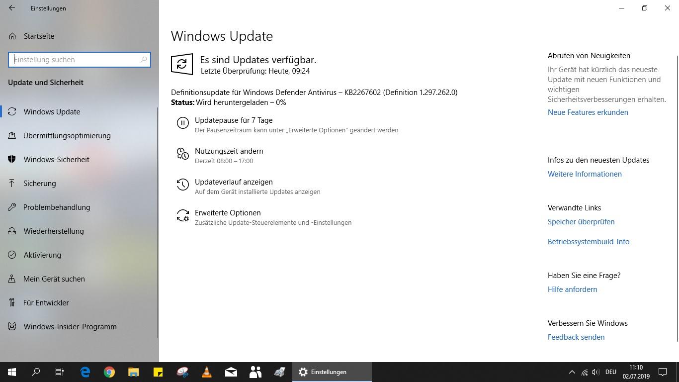 Probleme beim Update herunterladen