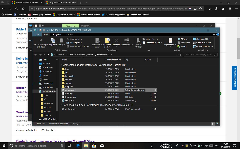 Windows-Apps Groove-Music, Fotos, Filme & TV erkennen lokal gespeicherte Daten nicht