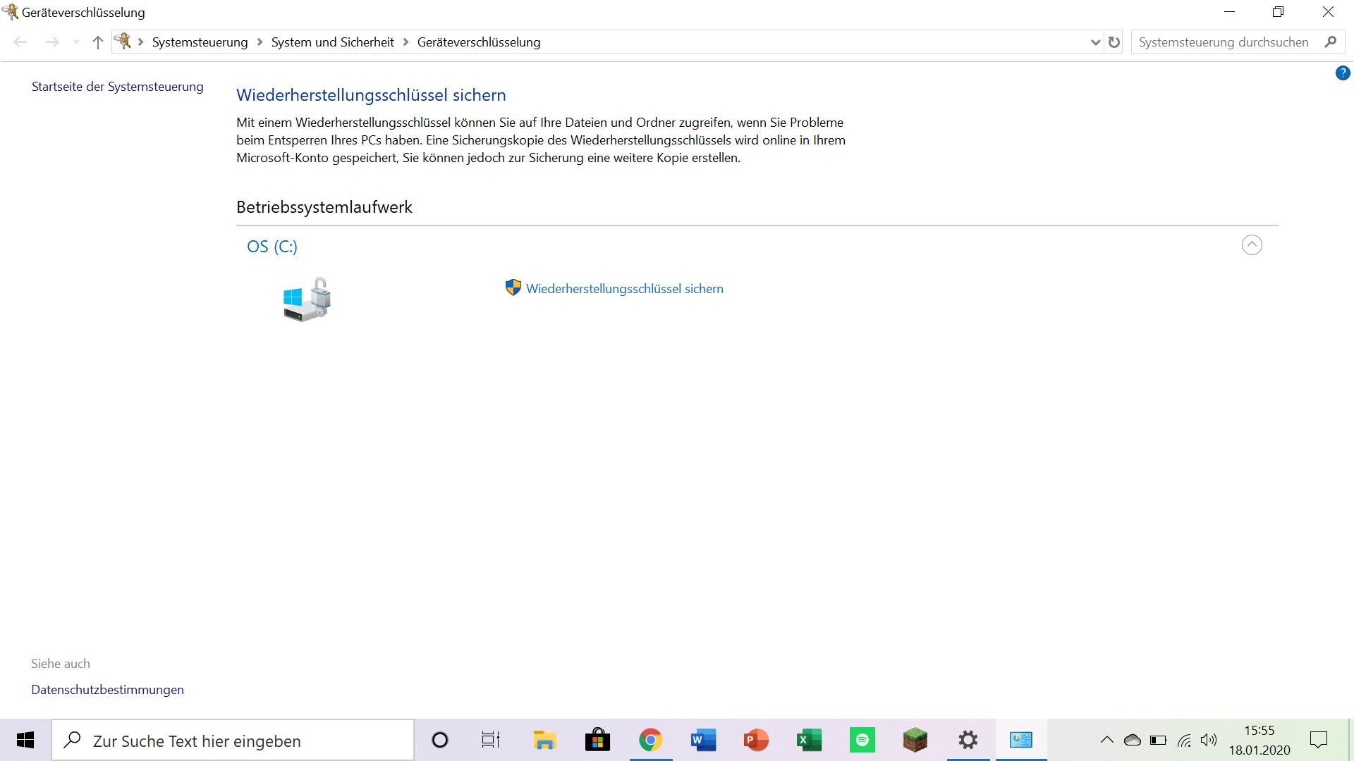 BitLocker Wiederherstellungsschlüssel wird bei jedem Systemstart abgefragt.
