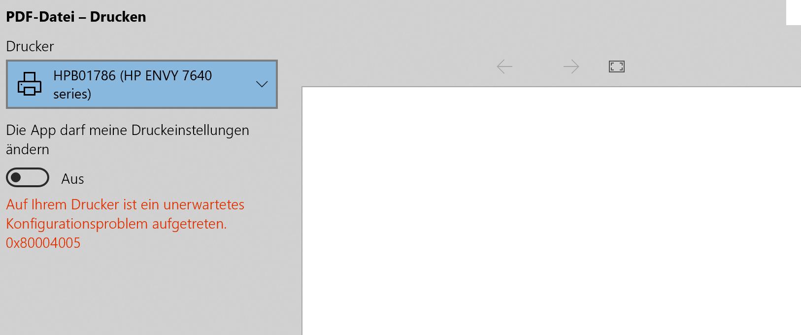 Microsoft Surface Book 2 druckt nichtmehr