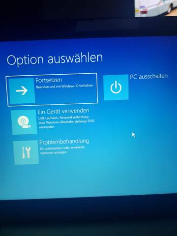 Windows 10 Fehler beim start?