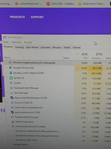 Logitech G430 zieht CPU Leistung?