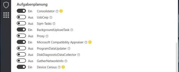 Kann ich die Dienste mit dem gelben Symbol gefahrlos deaktivieren, oder reagiert Windows...