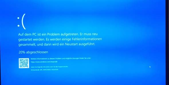 Windows 10 Fehlercode?