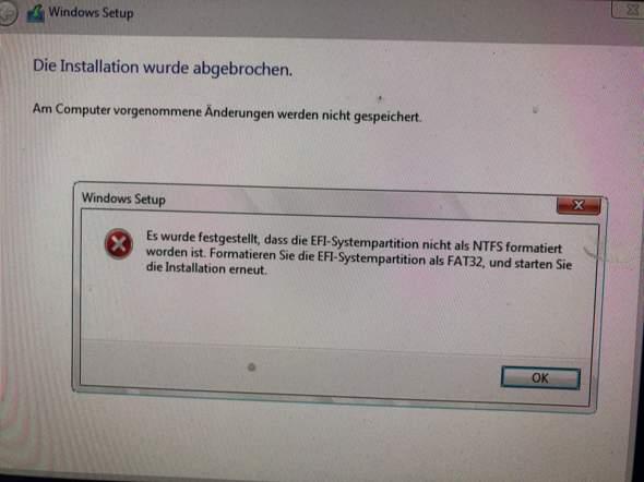 Win10 auf iMac installieren Fehler taucht auf was tuhen?