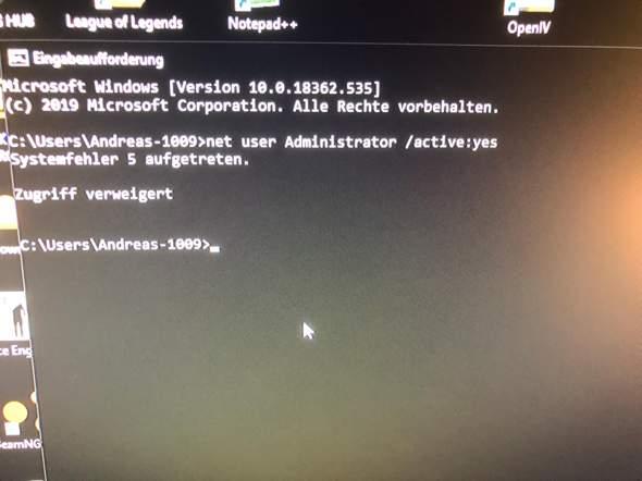 Windows Adminrechte weg gehackt?