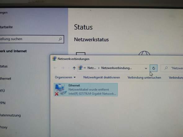 Internet nur über Ethernet möglich!?
