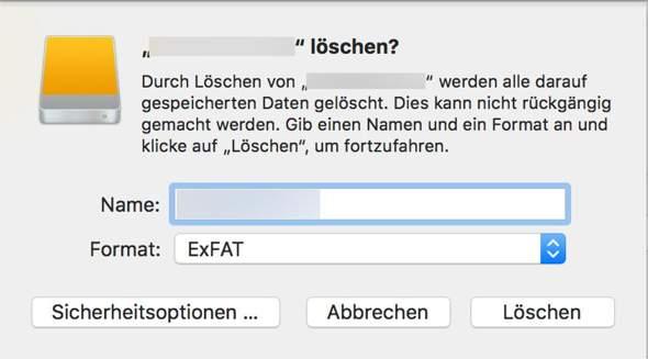 Externe Festplatte auf dem iMac und Windows-PC verwenden?