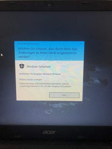 Windows 10 Sauberer neustart (reset) ohne Admin rechte?