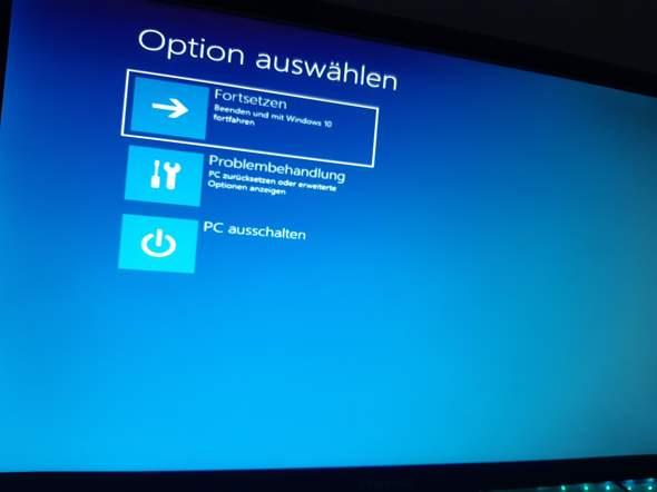 Zurücksetzen des PCs geht leider nicht?