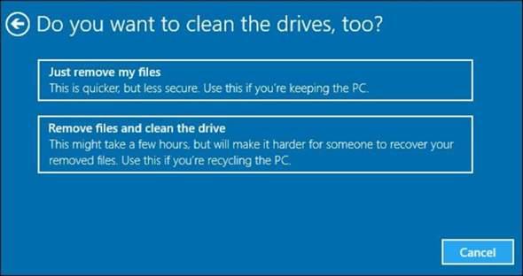 Datenwiederherstellung trotz Zurücksetzung eines PCs, wie?