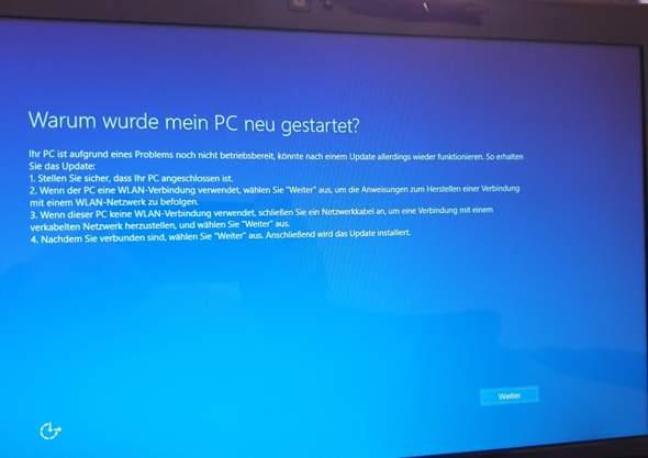 Windows 10 installation fehler?