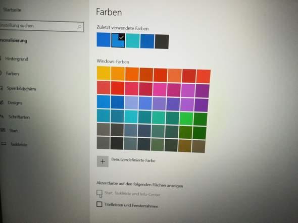 Wie passe ich die Farbe der Taskleiste an?