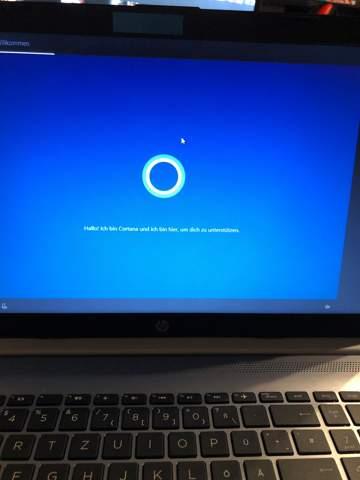 HP Laptop zurückgesetzt. Warum lässt Cortana mich nicht hochfahren?
