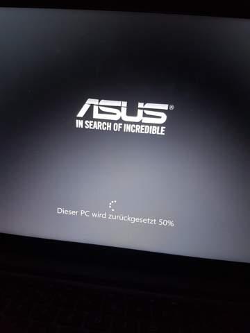 Beim Laptop zurücksetzen bleibt es bei 50% hängen, was tun?