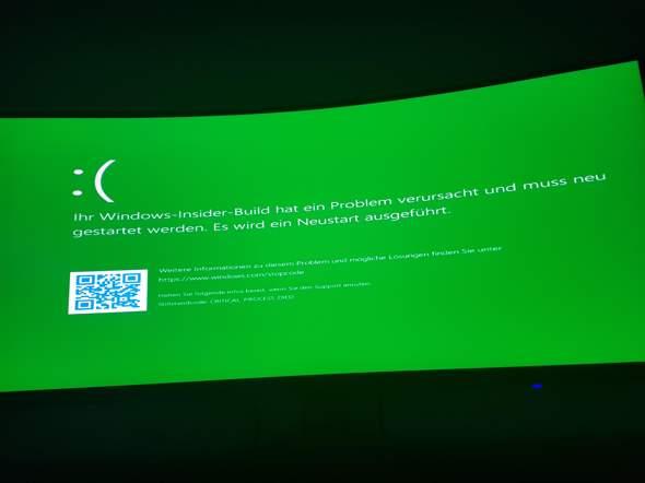 Pc startet nicht mehr? Windows insider build?