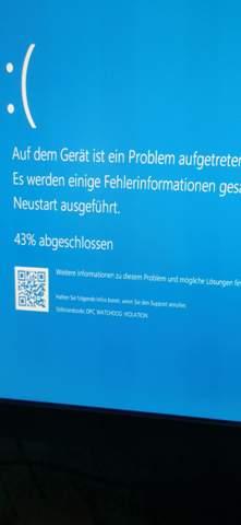 Windows 10 friert ein und stürzt ab, bekomme blauen Bildschirm?