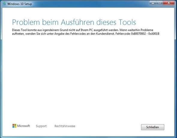 Windows 10 Tool Probleme?