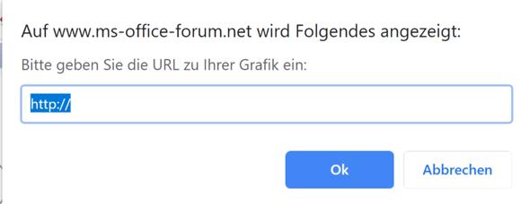 Wie soll ich eine URL eingeben?