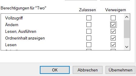 Windows: Anderen Nutzern das Ändern/Löschen von Dateien verbieten?