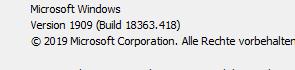 Windows 10 1909-Features nach Upgrade von 1903 nicht verfügbar?