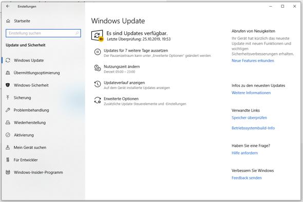 Updatepause Windows 10 ausschalten?