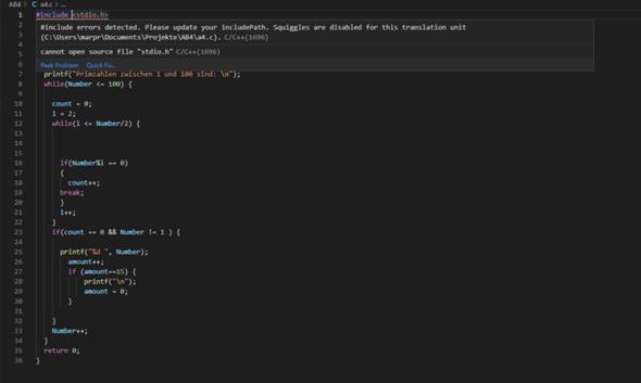 Problem mit Visual studio code auf windows 10?