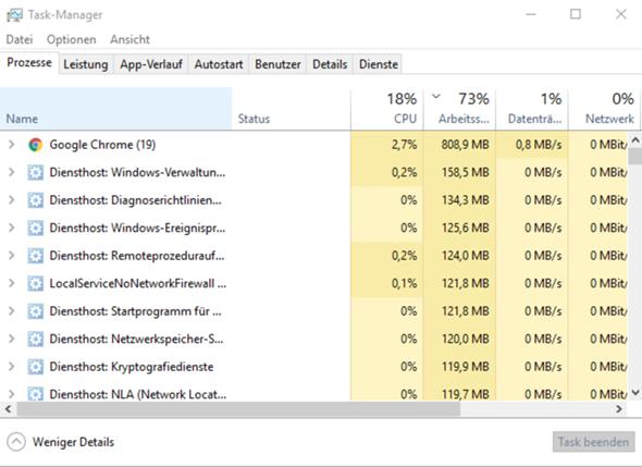 Windows verbraucht sehr viel RAM?