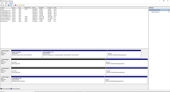 Stripsetvolume (RAID 1) auf Windows 10 Home nicht möglich?
