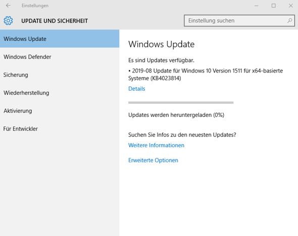 Windows update hängt bei 0%?
