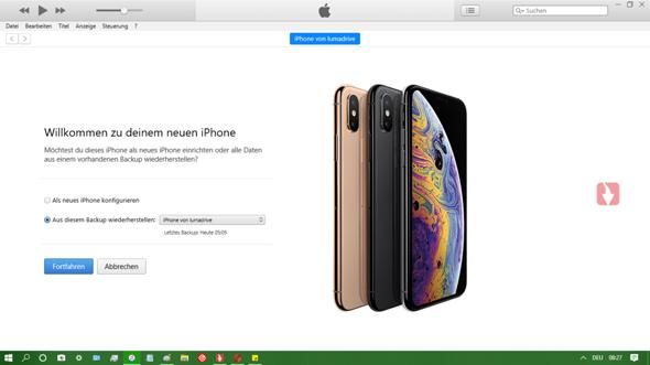 iTunes: wie Konfiguration/Backupwiederherstellung umgehen (iPhone kommt schon klar)?