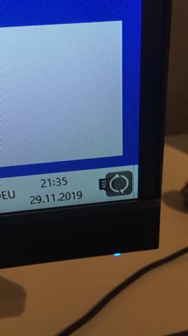 Komisches Symbol auf dem Monitor?