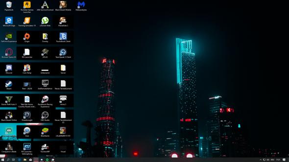 Desktop Icon Hintergrund Schwarz was tun?