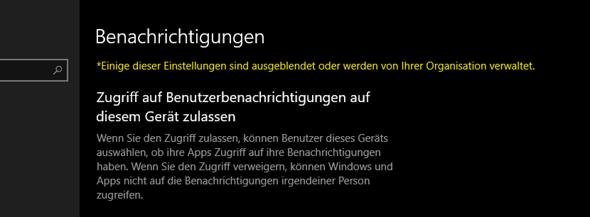 Ich kann keine Windows 10 Datenschutz Einstellungen anpassen?