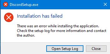 Probleme bei der Installation: Discord?