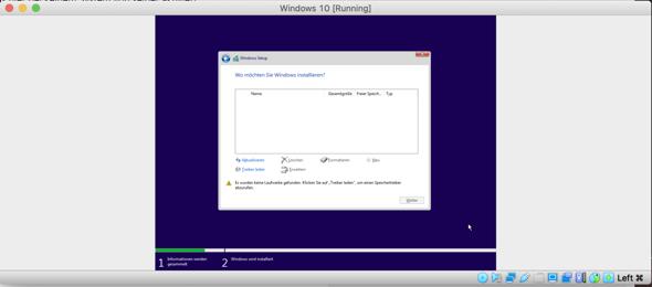 Keine Windows 10 Treiber unter VirtualBox?