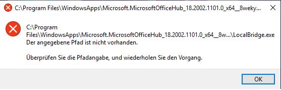 Alle 5 Minuten ein Windows fehler?