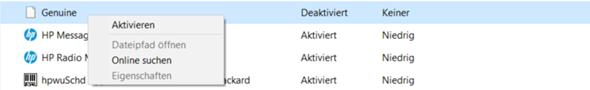 """Windows 10: Autostart Programm: """"Genuine""""?"""
