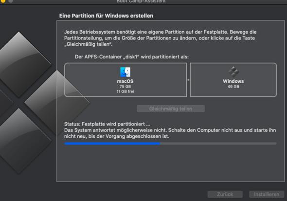 Wie Windows auf Macbook installieren, Problem?