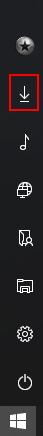 Windows 10 Startmenü: Normalerweise öffnet sich nach einem Klick auf eines der Symbole das...