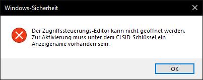 Windows Berechtigungen-Key Kaputt?