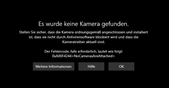 Meine Integrierte Kamera vom Laptop funktioniert nicht?