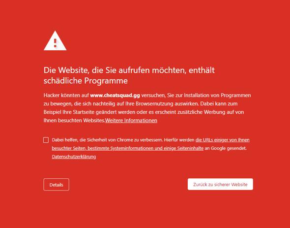 Wie Sicherheitsfehler bei Google Chrome (Windows 10) entfernen?