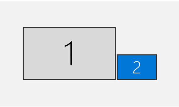 Wie kleinen Monitor neben großen Monitor erweitern?