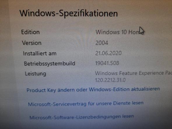 windows 10 Änderung?