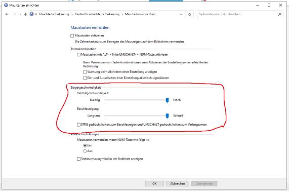 Was bewirken diese Mausregler in Windows 10?