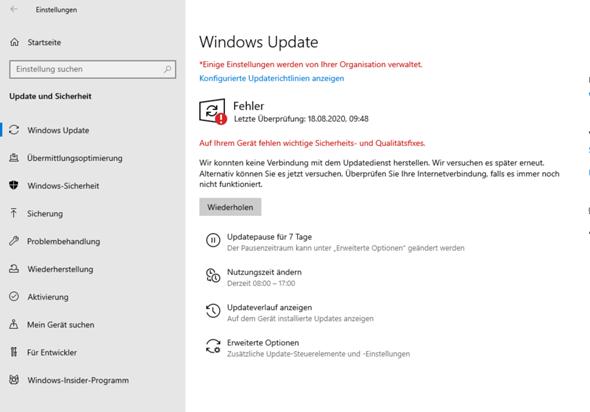 Windows 10 Fehler beim Update ich brauche Hilfeee?