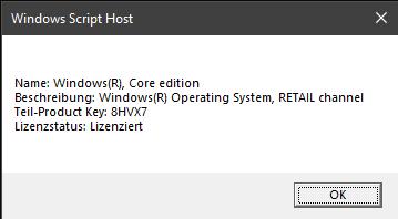 Ist diese Windows Retail Version übertragbar?