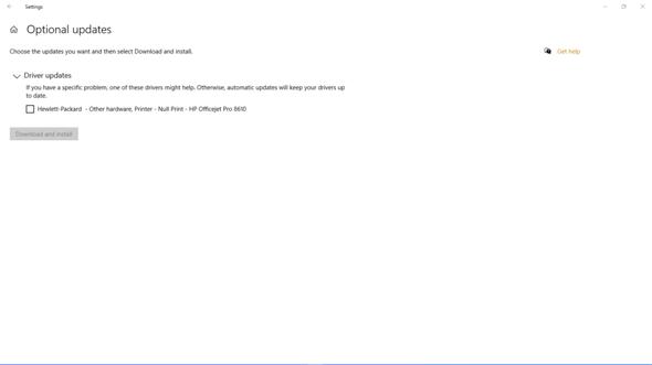 Windows 10 Optionale Updates?