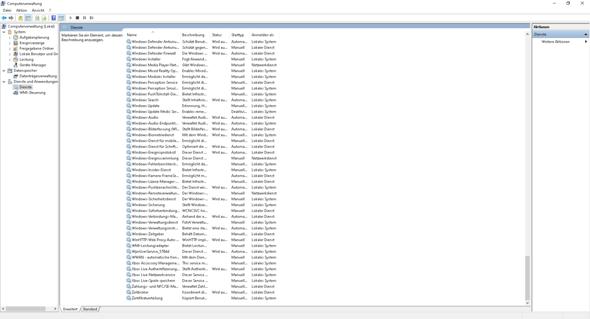 Windows Computer Verwaltung Einstellungen zurückgesetzt?